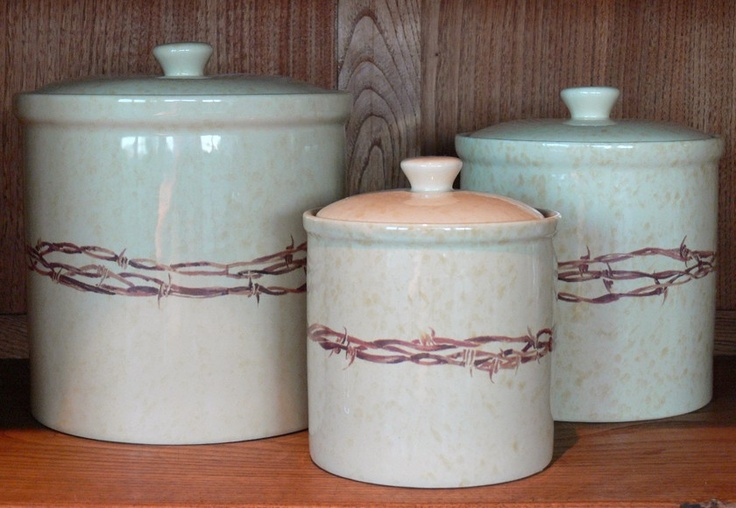 Western Style Kitchen Canisters >> 12 best images about CowboyLiving.com -- Western Dinnerware on Pinterest | Cowboys, Kitchen ...
