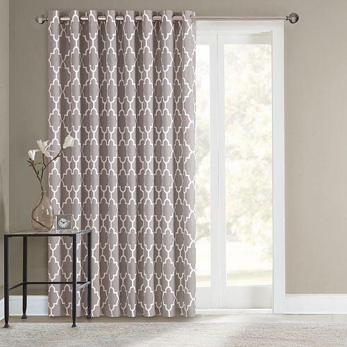 SONOMA life + style® Fret Patio Door Curtain - 100'' x 84''