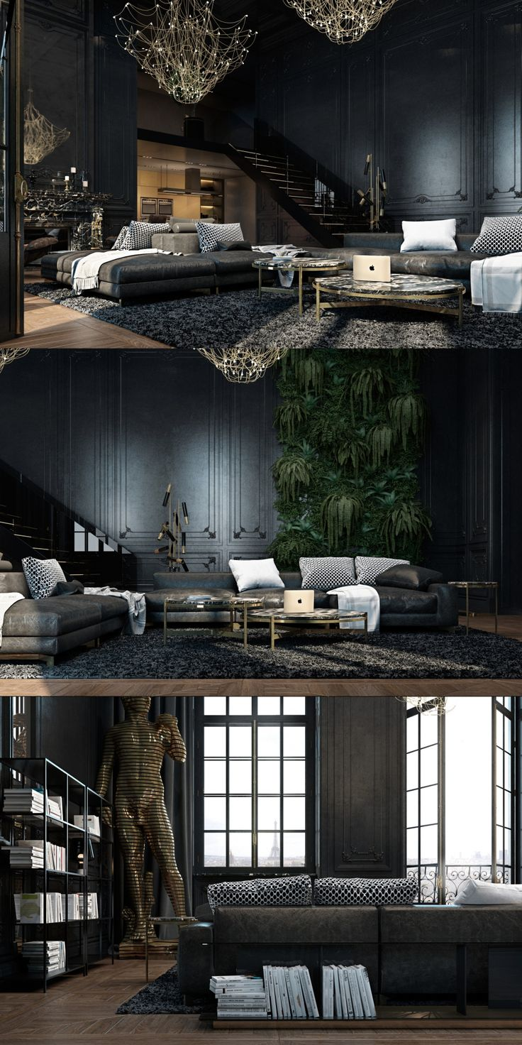Paris_apartment - #interiordesigninspiration #decorationideas #interiordesigner interior inspirations, design inspiration, home interior. See more at http://www.brabbu.com/en/inspiration-and-ideas/category/interior-design