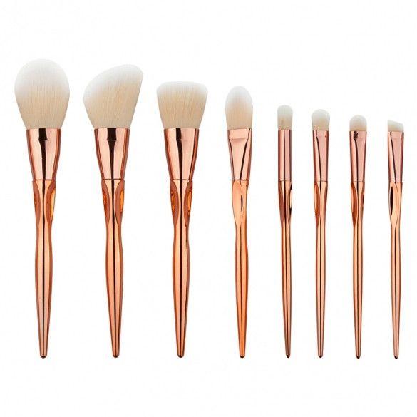 8pcs Makeup Brushes Cosmetic Powder Blush Contour Foundation Eyeshadow Make-up B…