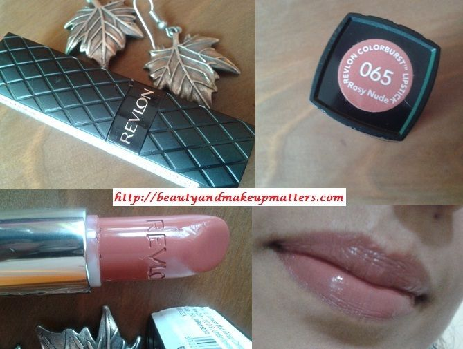 Revlon Colorburst Lipstick - Rosy Nude Review. A soft Rosy nude pink lipstick with smooth creamy texture. It is best neutral shade for indian skintones