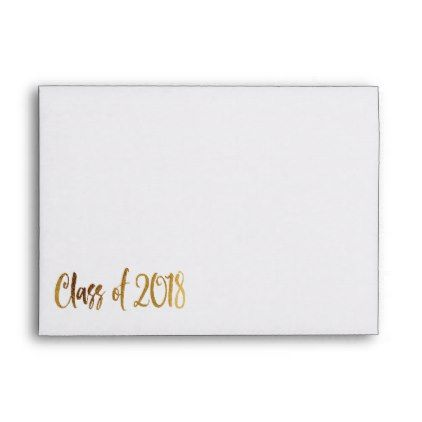 Graudation Graduate Grad Class of 2018 Gold Envelope  $0.85  by artinspired  - cyo customize personalize diy idea
