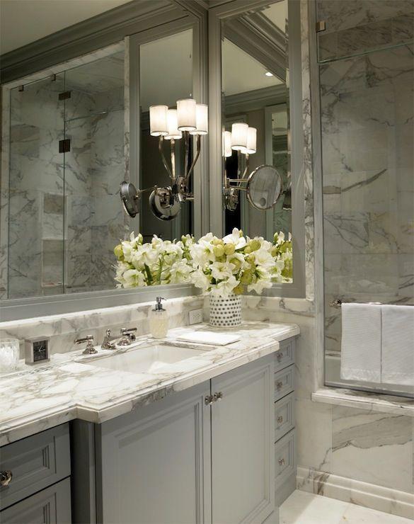 Calcutta marble gold light gray vanity statuario for Bathroom ideas light grey