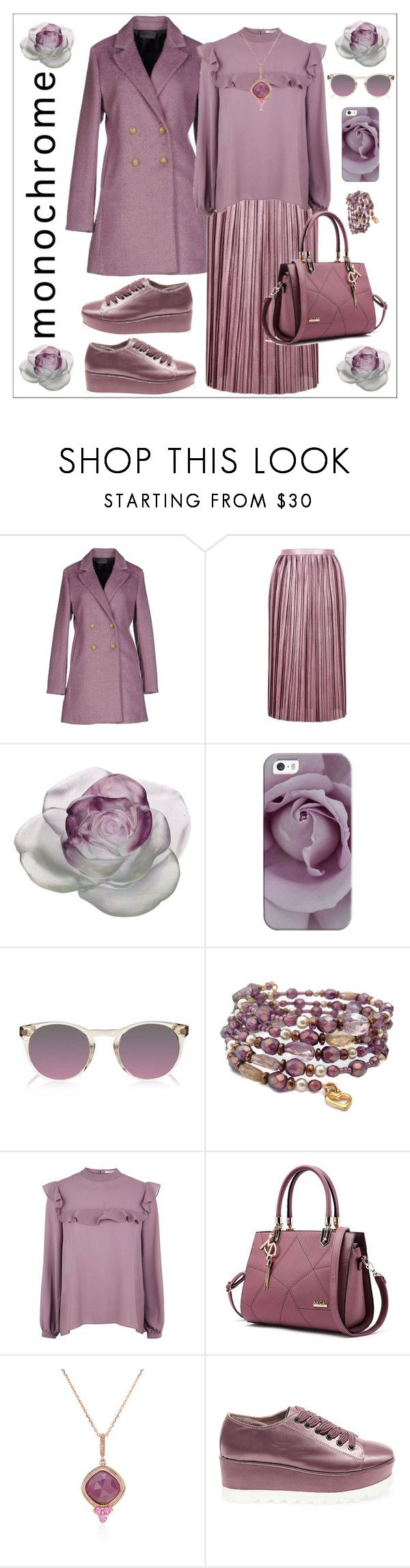 """One Color, Head to Toe"" by rossie-rz ❤ liked on Polyvore featuring Sarah Jackson, Topshop, Daum, Casetify, Finlay & Co., Glamorous, Steve Madden and monochrome"