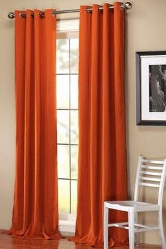 Possibility Of Panels That Hang On Either Side Of Bay Window? These Could  Be In. Burnt Orange CurtainsBurnt ...