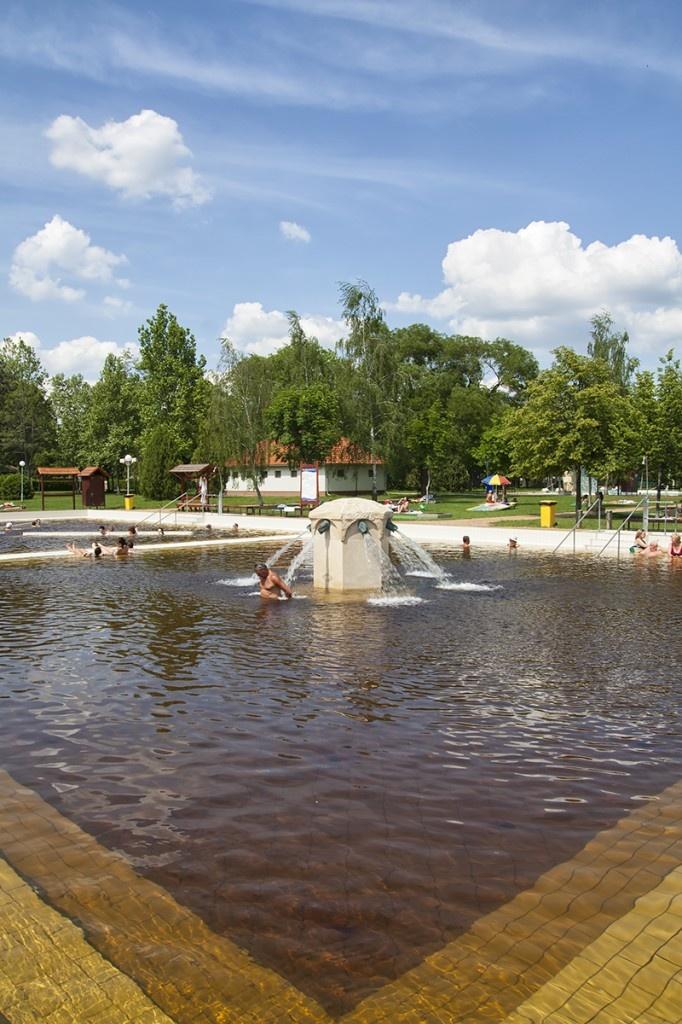 Main thermal pool at Berekfürdő thermal Spa