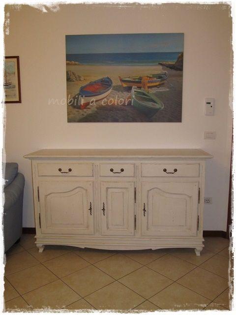 #credenza stile #provenzale e tavolino per casa a Bologna by mobiliacolori.it