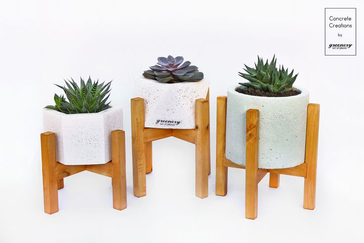 Wooden stands! Available online: www.greenery.gr  #greenery #greeneryoriginals #concrete #decoration #greece