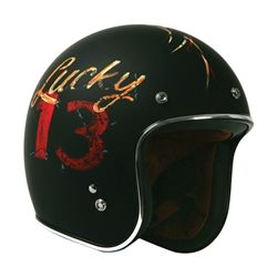 "Torc DOT ""Lucky 13"" Retro Motorcycle Half Helmet"