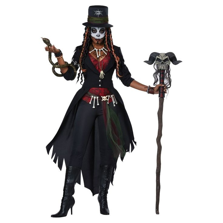 Women's Voodoo Magic Adult Costume X-Large, Size: XL, Multicolored