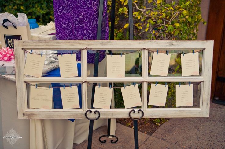 Cute idea for wedding table list