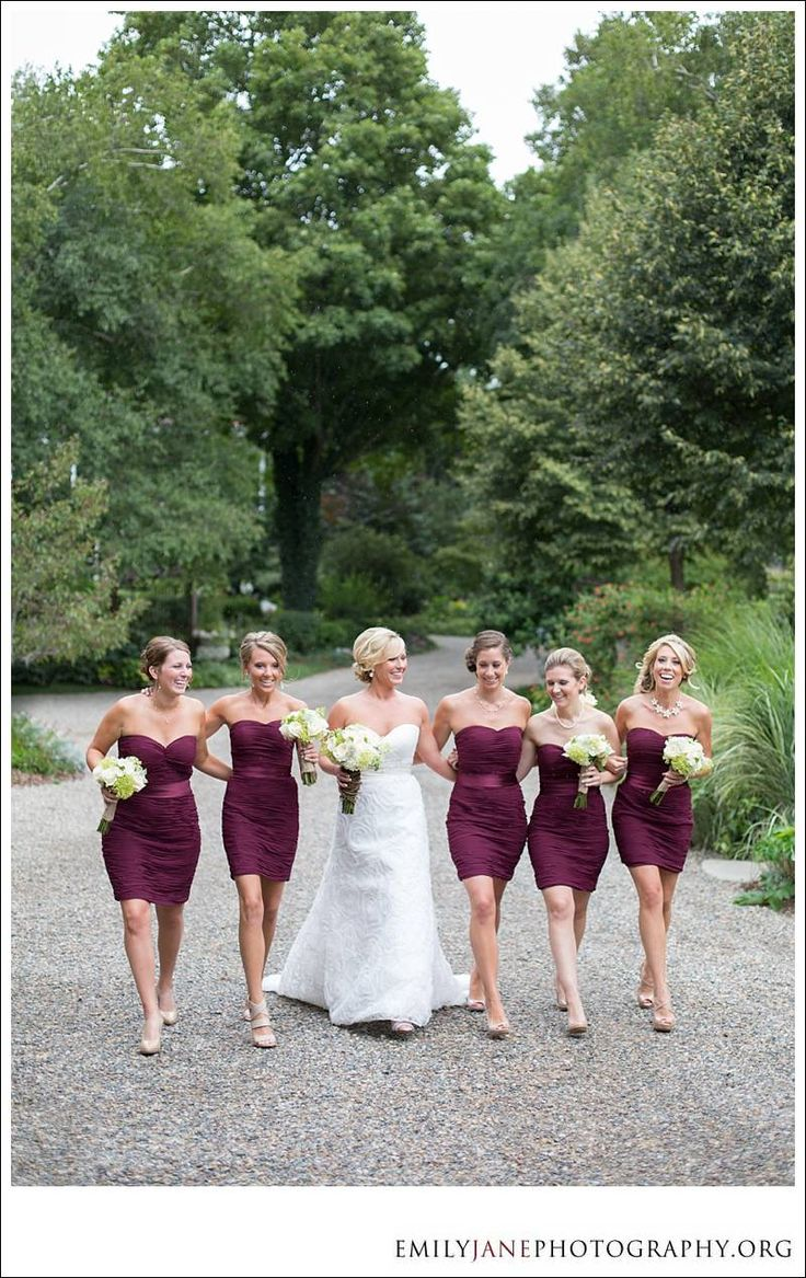 Emily Jane Photography » bridesmaids | wedding girls | Michigan wedding | cranberry dresses | wedding |