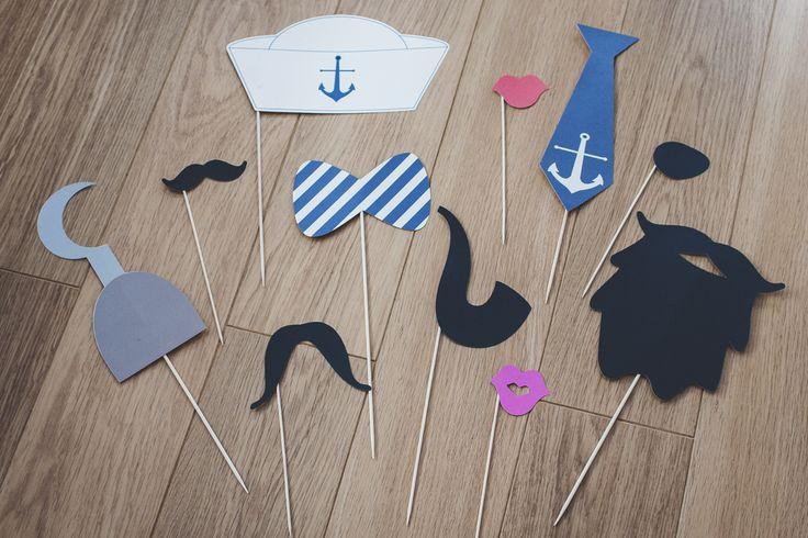 http://cudowianki.pl/fotobudka/  Gadżety do fotobudki w stylu marynarskim by Cudowianki.