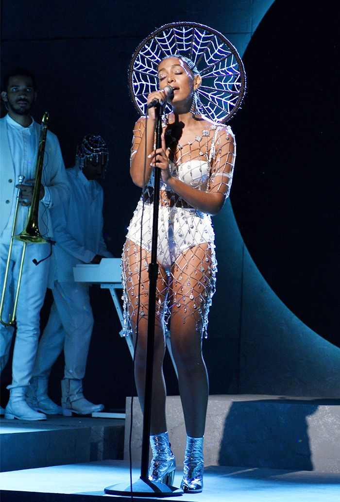 You Have to See Solange Knowles's Custom Crystal Dress via @WhoWhatWear