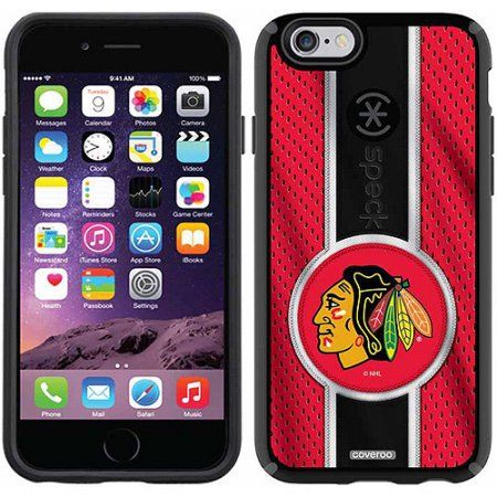 Chicago Blackhawks Jersey Stripe Design on Apple iPhone 6 CandyShell Case by Speck