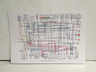 bmw wall size laminated electrical system wiring diagram 73 74 all Skunk Diagram 73 cheetah wiring diagram