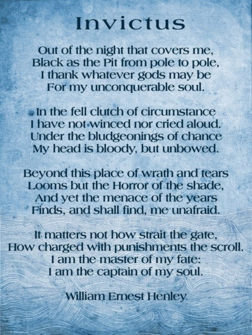 Can someone help me edit my essay for relating the movie Invictus to the poem