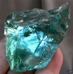 Natural Blue Obsidian (raw) Obsidian is a very, very special stone.  It is not a true mineral.  It is actually a volcanic glass that forms when molten lava cools too rapidly to crystallize.  It consists mostly of Silicon Dioxide.