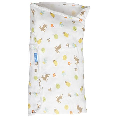 Buy Grobag Woodland Friends Swaddle Blanket Online at johnlewis.com