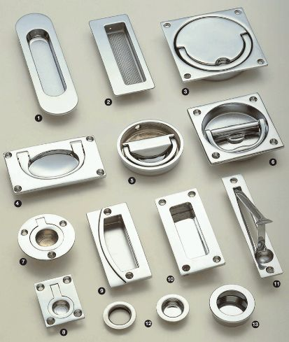 Flush Ring Pulls and Sliding Door Handles