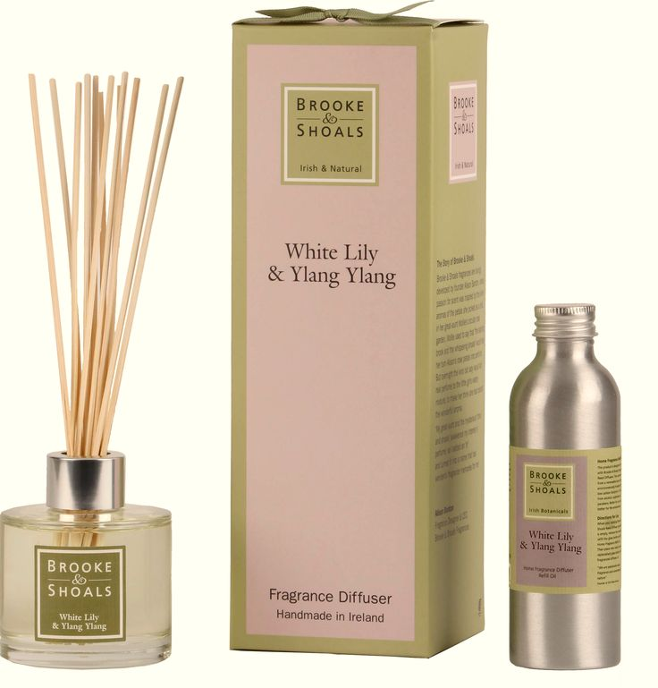 Brooke & Shoals | White Lily & Ylang Ylang Diffuser and Refill Oil | Calming