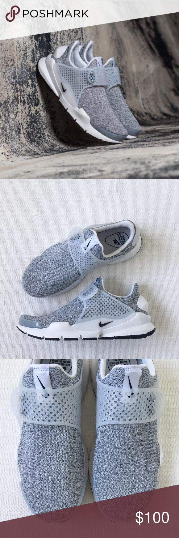 Women's Nike Sock Dart Metro Grey Running Sneakers Women's Nike Sock Dart Metro Grey Running Sneakers takes a minimalist approach for a streamlined look. Knit upper is flexible and breathable. Style/Color: 862412-100  • Women's size 8  • NEW in box (no lid) • No trades •100% authentic Nike Shoes Sneakers