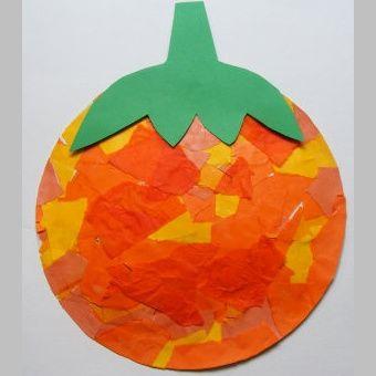 halloween dýně z papírového talíře