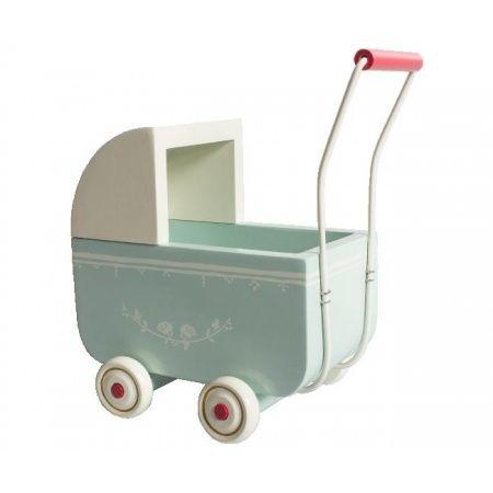 JOJOmode - Maileg - Kinderwagen baby pram light blue voor MY