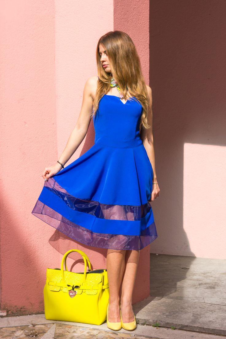 #trasparenze e #blu #elettrico per Andrea's swag