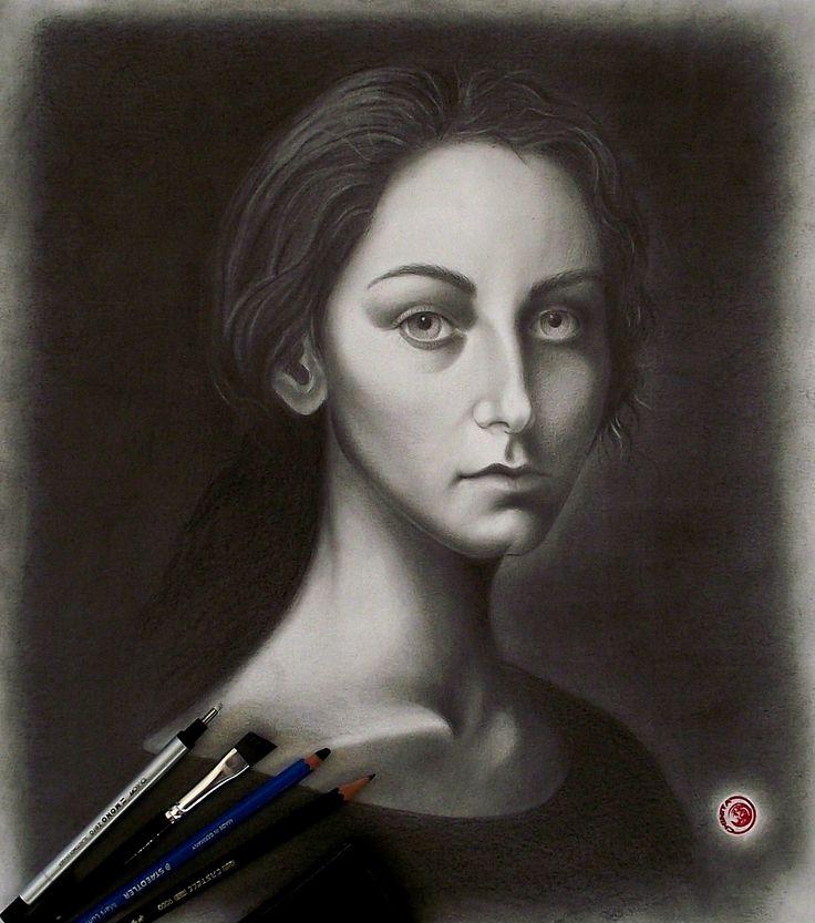 Retrato a grafite