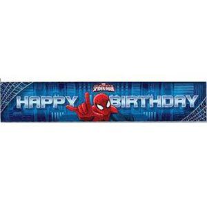 "1075 - Spiderman ""Happy Birthday"" Banner Spiderman Ultimate Banner, ""Happy Birthday"" - Each"