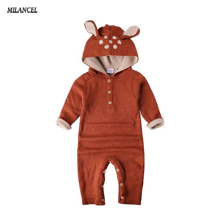 Aliexpress.com: Comprar Comercio al por mayor 2017 de Otoño de Punto bebé niños niñas ropa set de manga larga Renos bebé Recién Nacido mono roupas de bebe de roupas de bebe fiable proveedores en Baby E-Shop Store