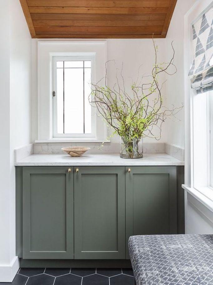 2018 Trend Sage Green Bathrooms Becki Owens In 2021 Green Bathroom Bathroom Vanity Style Green Vanity