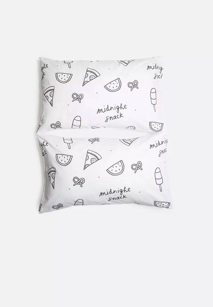 Midnight Snack Pillowcase Set