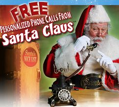 FREE Personalized Phone Call From Santa Claus on http://hunt4freebies.com