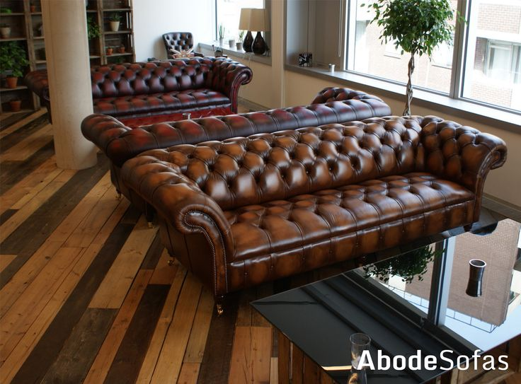 A few years ago we supplied BioAgency with 4 of our vintage antique leather sofas. They fit in perfectly | Abode Sofas