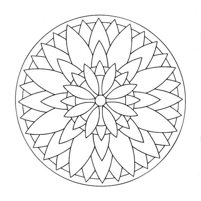 1001 Coole Mandalas Zum Ausdrucken Und Ausmalen Simple Mandala Design Mandala Coloring Simple Mandala