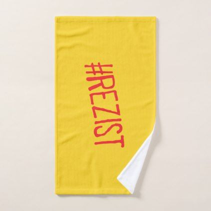 rezist romania political slogan resist protest sym hand towel  - diy cyo personalize design idea new special custom