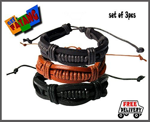 Get Fatang Multi-strand Unisex Leather Bracelet (Set of 3) Get Fatang http://www.amazon.in/dp/B00M41MHJA/ref=cm_sw_r_pi_dp_jxq3tb058DQTYTSX
