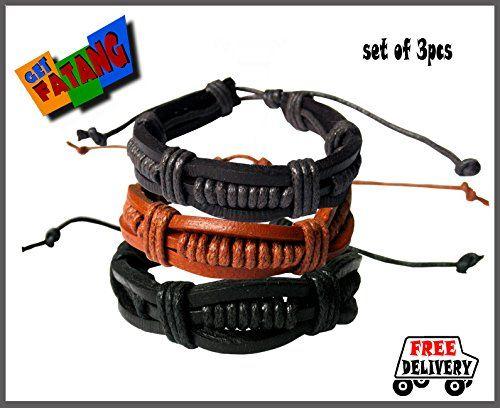 Get Fatang Multi-strand Unisex Leather Bracelet (Set of 3) Get Fatang http://www.amazon.in/dp/B00M41MHJA/ref=cm_sw_r_pi_dp_jxq3tb058DQTYTSX