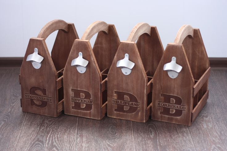 Personalized Wooden 6 pack holder, Beer Holder, Beer Carrier, Beer Tote, Men's gift, Bottle opener, Six Pack Carrier, Beer Caddy, Soda caddy  https://www.etsy.com/listing/243228605/personalized-wooden-6-pack-holder-beer  $49.90