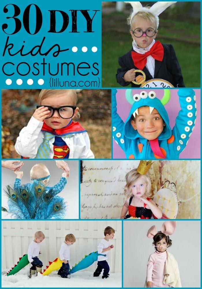 DIY Kids Costumes for Halloween! SO many adorable costume ideas!! { lilluna.com }