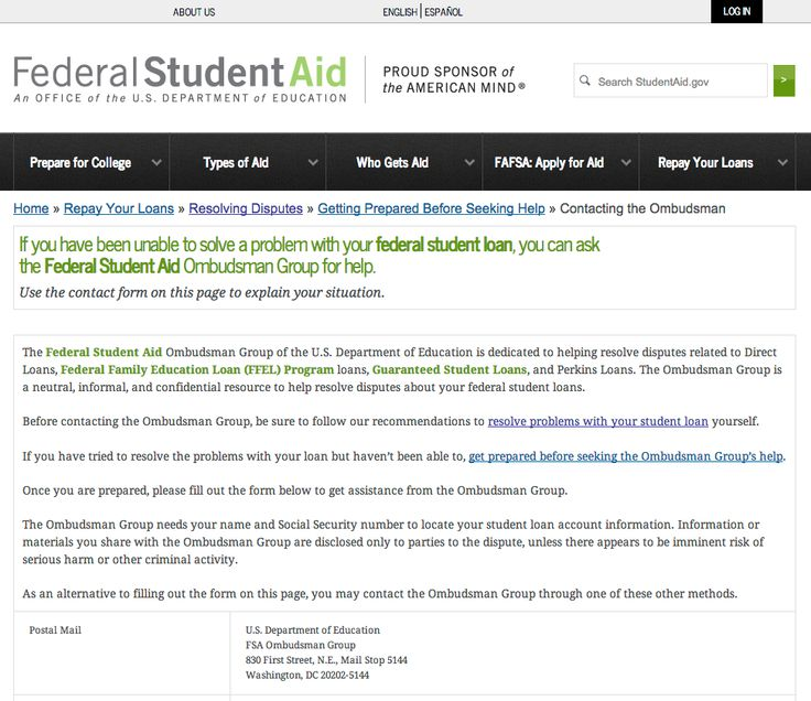 If you have been unable to solve a problem with your federal student