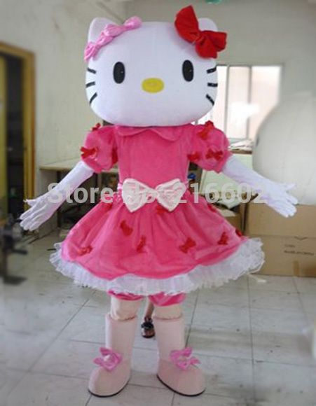 Мисс Hello Kitty ростовая кукла костюм взрослые размер Hello Kitty ростовая кукла костюм взрослые ростовая кукла костюм