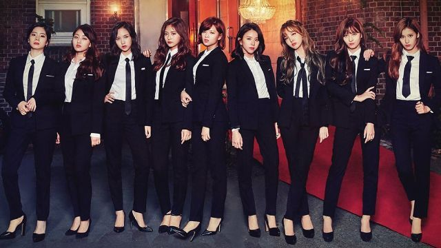 Twice In Suit Girly Outfits Kpop Girls Kpop Girl Groups