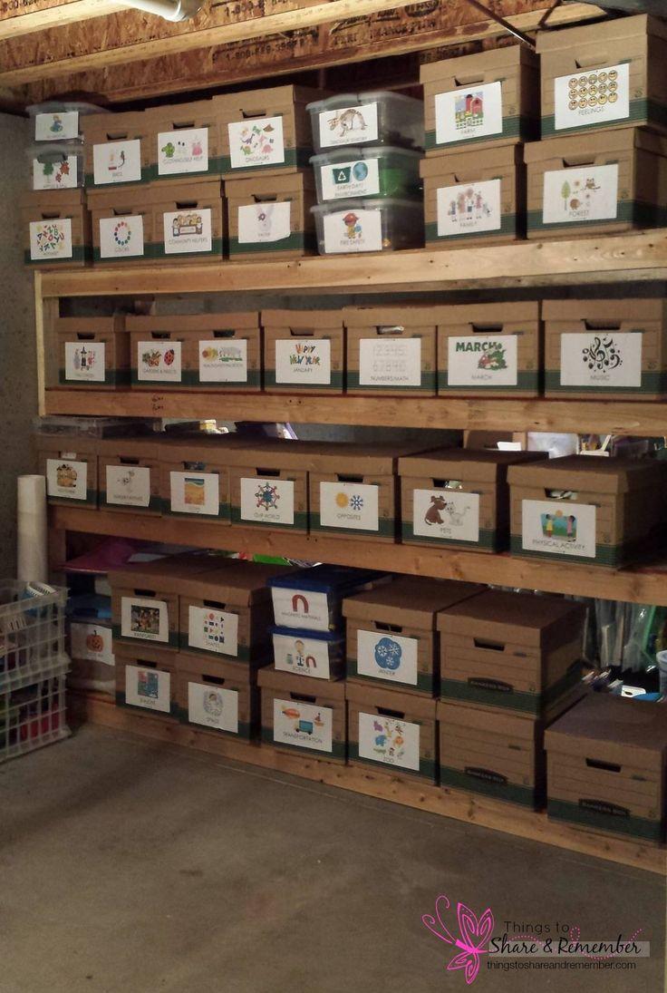 child care preschool storage -Organizing all those Supplies #MGTblogger