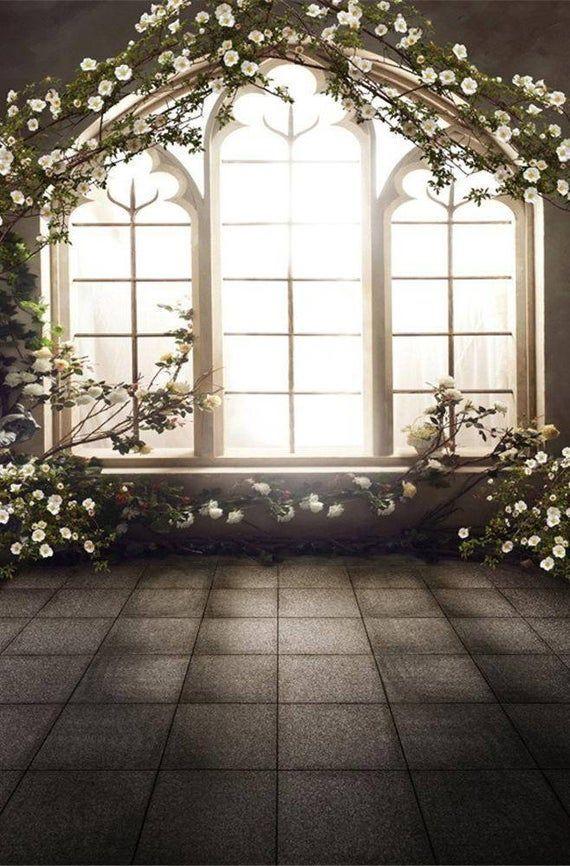 Spring Flowers Wedding Window Photography Studio Backdrop Background Window Photography Backdrops Backgrounds Photo Studio Decor Background photo studio keluarga hd