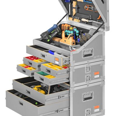 German manufacturer S+L Tischlerei's approach to tool storage is modular in concept and monolithic in appearance. In contrast to OPO Oeschger's line of wares, which require the carrier to pick and choose which box is the right one to bring to the job, S+L Tischlerei's MobilMarie system is meant to...