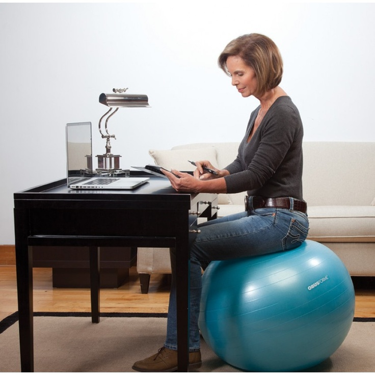 17 best images about stability balls on pinterest lazy girl chairs and exercise - Replacing office chair with exercise ball ...