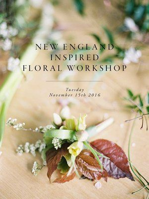 New England Inspired Floral Workshop | Flower arranging | Autumn | Fall | London Florist // Pic by @chikaeoh